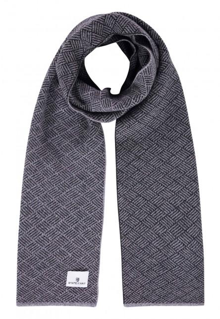 Sjaal-van-een-lamswol-mix---zilvergrijs/donkerantracit