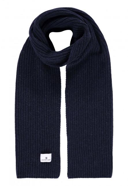 Sjaal-in-patentsteek---donkerblauw-uni