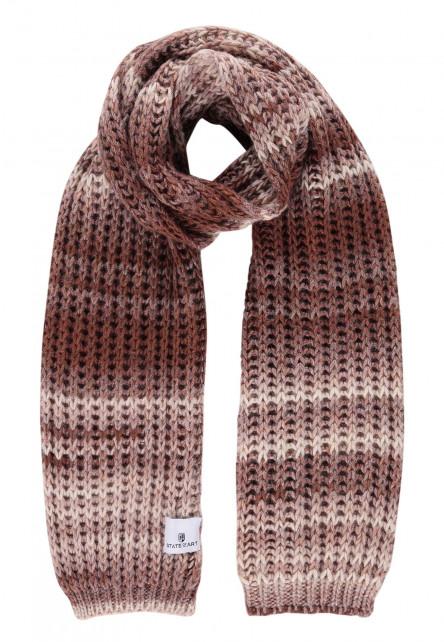 Gestreepte-sjaal-van-een-acryl-mix---brique/sepia