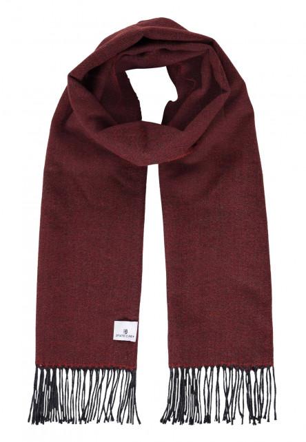 Effen-sjaal-met-lange-franjes---brique/donkerantracit