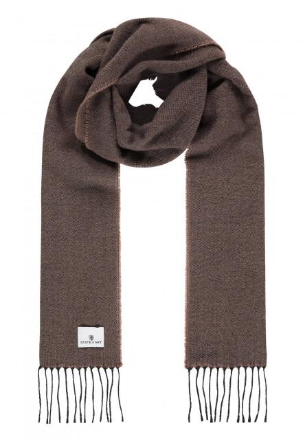 Effen-sjaal-met-lange-franjes---sepia/donkerantracit