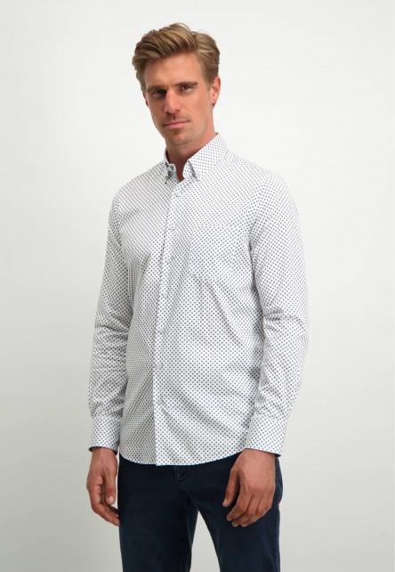 Modern-Classics-overhemd-van-biologisch-katoen---wit/kobalt