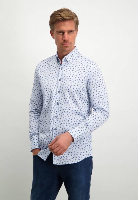 Modern-Classics-overhemd-met-button-down---wit/kobalt