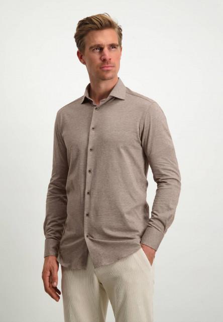 Modern-Classics-gemêleerd-overhemd---cognac/wit