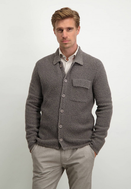 Modern-Classics-vest-in-overshirt-stijl---sepia/donkerantracit