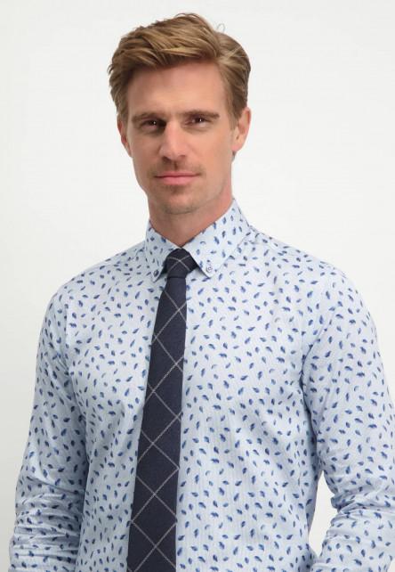 Modern-Classics-geruite-stropdas---donkerblauw/gebroken-wit
