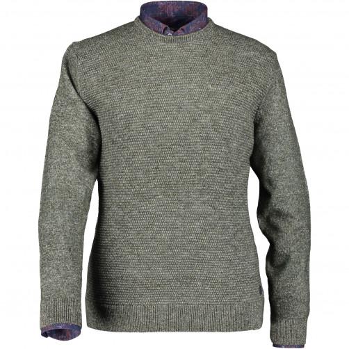 Pull-à-devant-en-tricot-structure