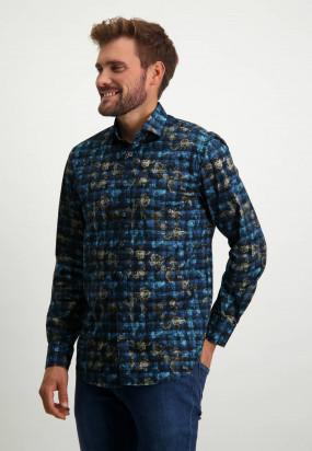 Chemise-à-imprimé---blue-foncé/cobalt