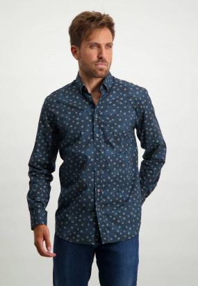 Chemise-à-imprimé---blue-foncé/gris-bleu