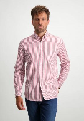 Chemise-à-rayures---vieille-rose/blanc