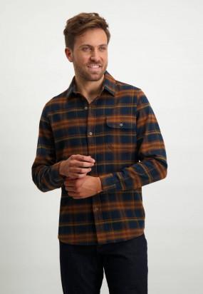 Chemise-à-carreaux---brique/cognac