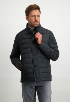 Manteau-à-carreaux---blue-foncé-uni
