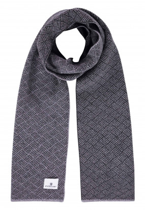 Écharpe-imprimé---gris-argenté/anthracite