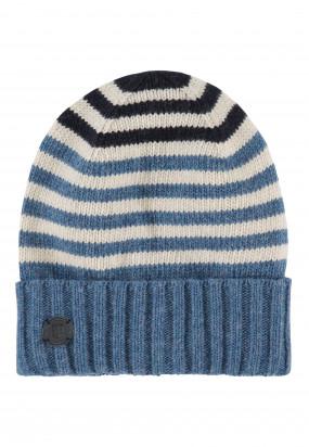Bonnet-à-rayures---gris-bleu/grège