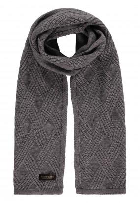 Modern-Classics-sjaal-in-structuur-breisel---zilvergrijs-uni