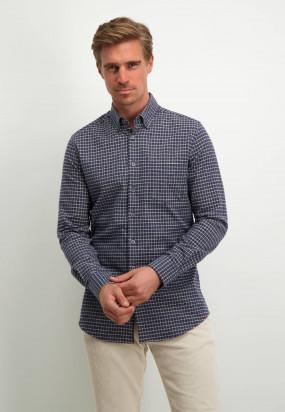 Modern-Classics-flanellen-overhemd---donkerblauw/wit