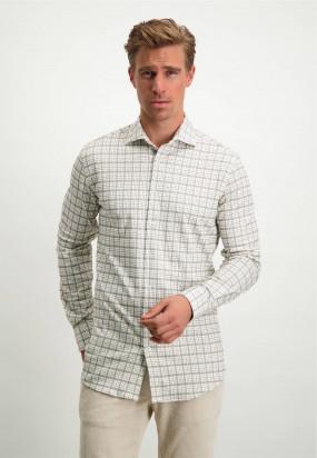 Modern-Classics-overhemd-van-biologisch-katoen---zilvergrijs/cognac