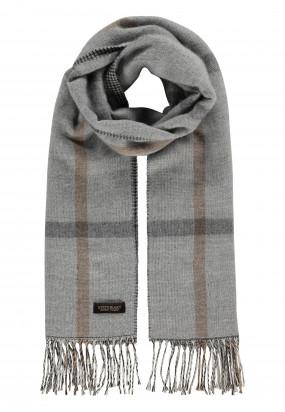 Modern-Classics-sjaal-met-ruiten---zilvergrijs/donkerantracit