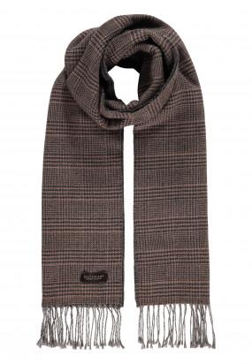Modern-Classics-sjaal-met-franjes---sepia/donkerantracit