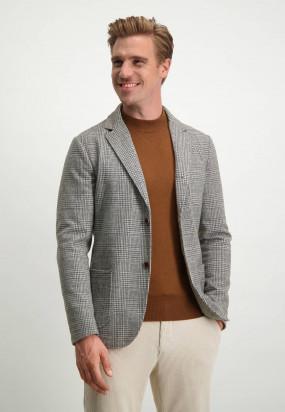 Modern-Classics-blazer-met-modern-fit---zilvergrijs/donkerbruin