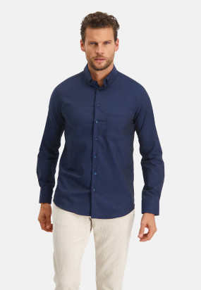 Modern-Classics-chemise-Easy-Care---blue-foncé-uni
