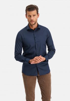 Modern-Classics-chemise-Spill-Resistant-Finish---blue-foncé-uni