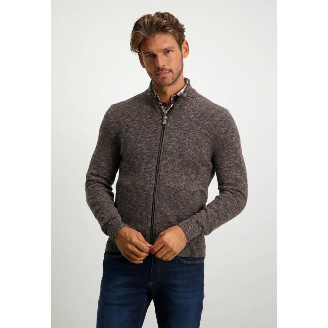 Vest-met-steekzakken---donkerblauw/donkerbruin