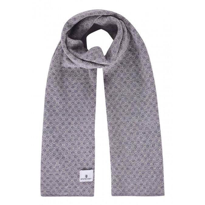 Jacquard-sjaal-van-een-lamswol-mix---zilvergrijs/kit