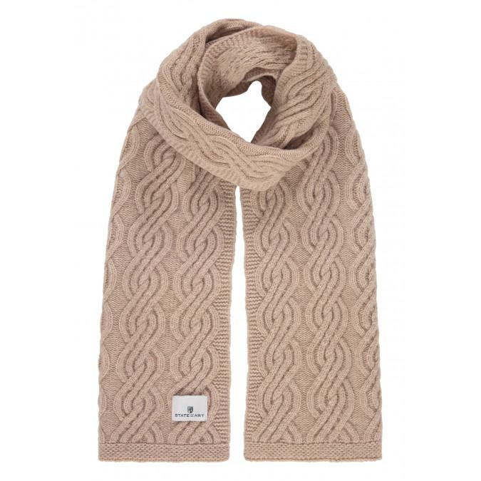 Kabelgebreide-sjaal-van-een-lamswol-mix---kit-uni