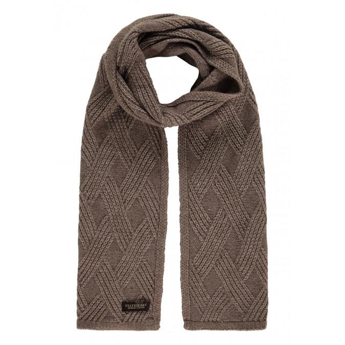 Modern-Classics-sjaal-in-structuur-breisel---sepia-uni