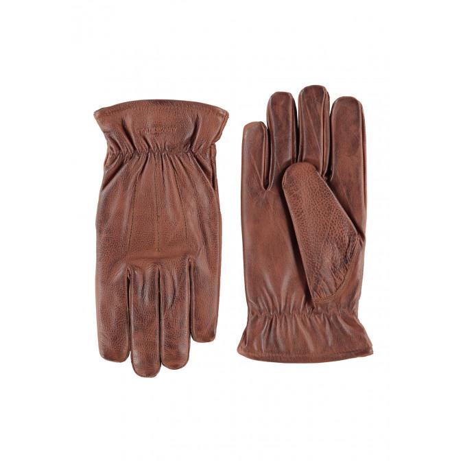 Handschoenen-van-echt-leer---bruin-uni