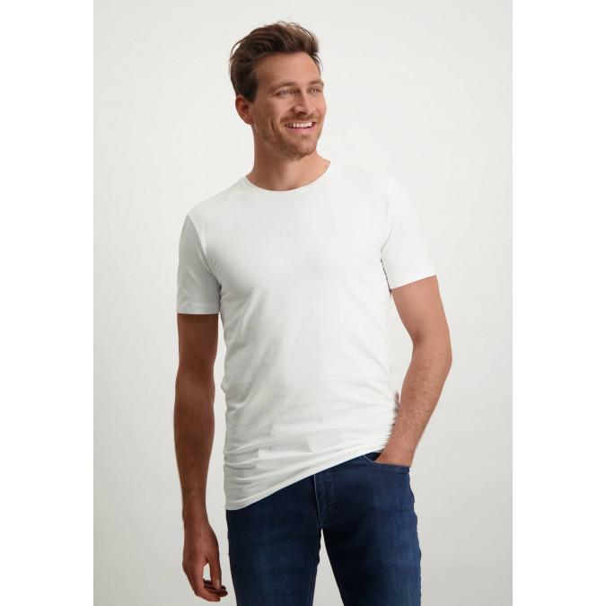 T-shirt-encolure-ronde-blanc