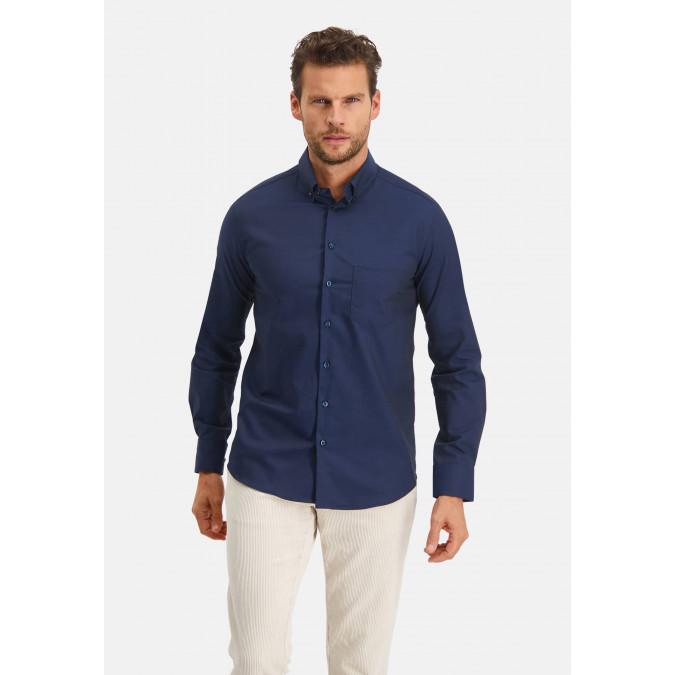 Modern-Classics-overhemd-Easy-Care---donkerblauw-uni